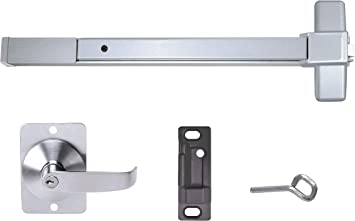 Push Bar Panic Exit Device Grade 1 Ul Listed Aluminum With Exterior Lever Amazon Com