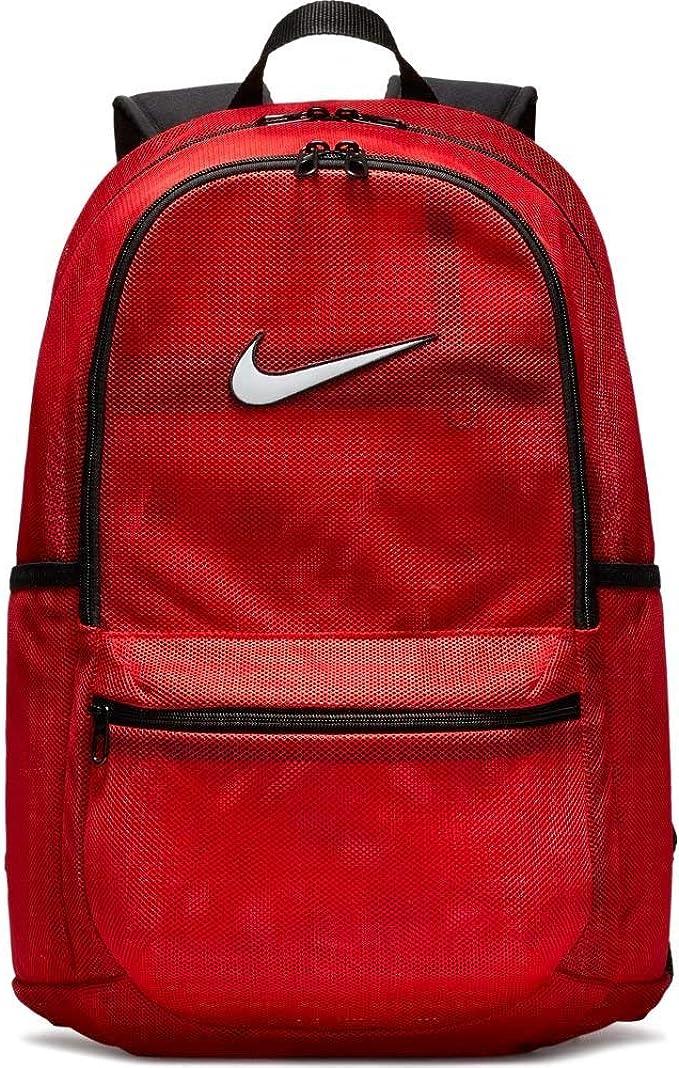 precio loco bajo costo nuevo estilo de vida Amazon.com: Nike Brasilia Mesh Backpack - Red: Clothing
