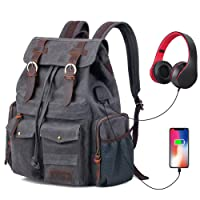 P.KU.VDSL Vintage Canvas Backpack