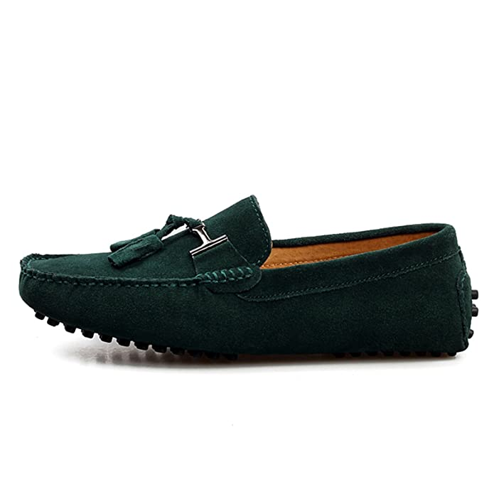 Minitoo Men's Driving Herren Slipper, Veloursleder, Tassel Penny Boat,  Schuhe, Grün - grün - Größe: 41: Amazon.de: Schuhe & Handtaschen