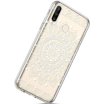 Herbests Kompatibel mit Samsung Galaxy A50 Handyh/ülle TPU Silikon D/ünn Schutzh/ülle Muster Transparent Durchsichtige Crystal Clear Case Cover Anti-Kratzer H/ülle Softcase Tasche,Pink Blume