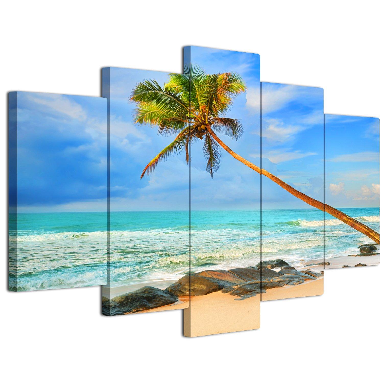 【リブラLibra】 5パネルセット アートパネル インテリアアート 海の景色 キャンバス絵画 (木枠付きの完成品) (L, LP1746) B076BNBQSG Large|LP1746 LP1746 Large