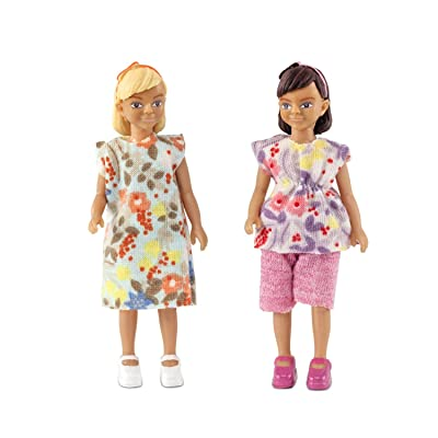 Melody Jane Dollhouse Lundby Two Modern Girls, Friends or Sisters: Toys & Games