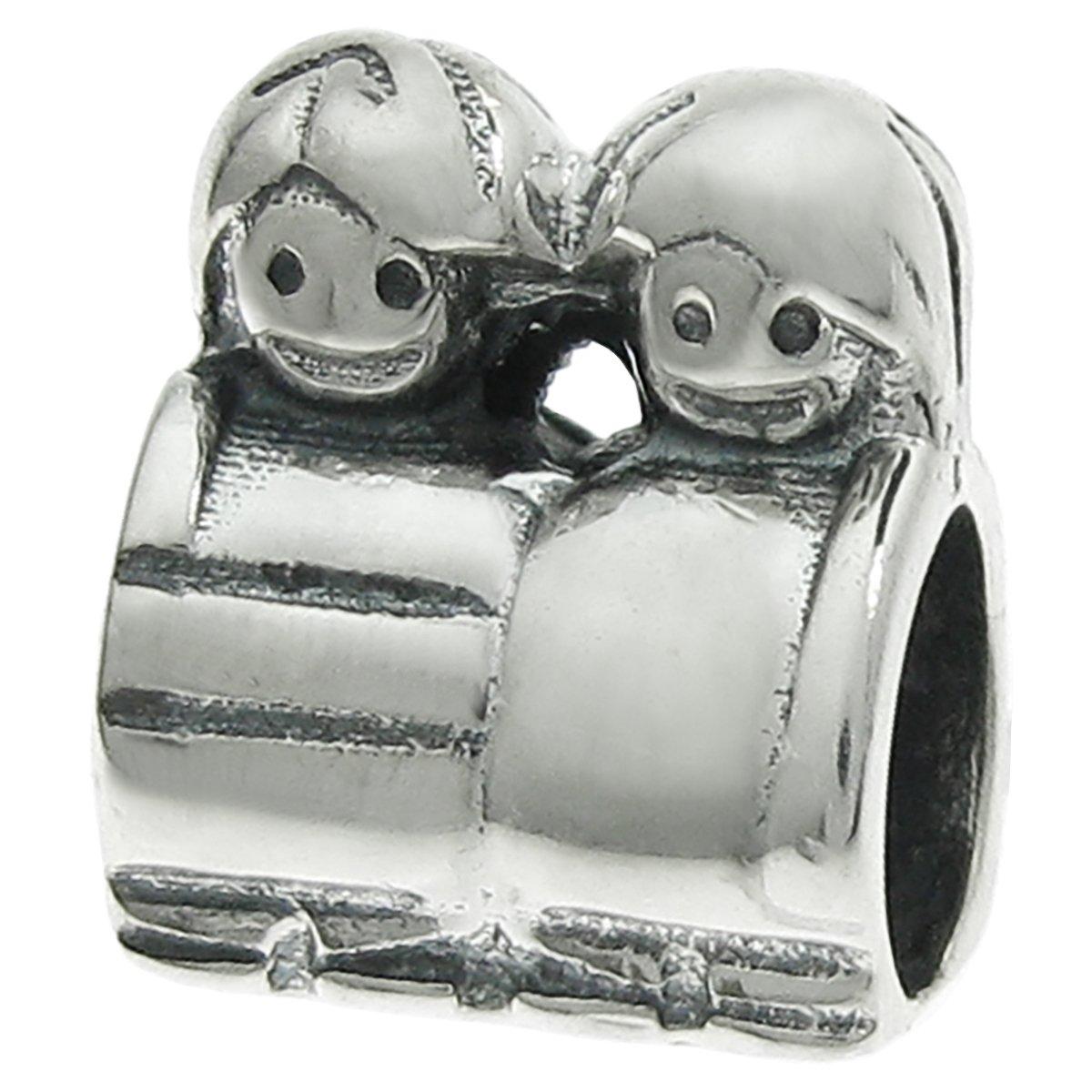 Sterling Silver 925 European Charm Boy//Girl Kids Children Bead