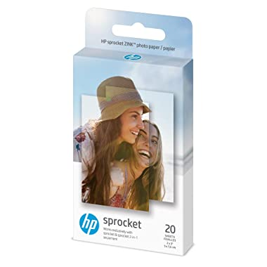 HP 1AH01A Wireless ZINK 2x3  Sticky-Backed Photo Paper,20 sheets