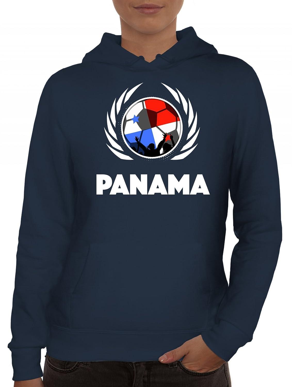 ShirtStreet Wappen Soccer Fussball WM Fanfest Gruppen Fan Wappen Damen Kapuzenpullover Fußball Panama