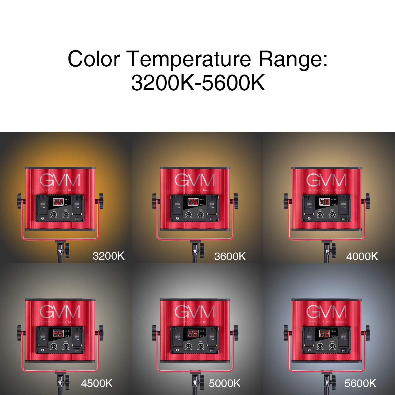 GVM LED Video Light 520 CRI97 + & TLCI 97+ 18500lux @ 20 inch Bi-Color 3200-5600K for Photography Video Lighting Studio Interview Portrait by GVM Great Video Maker (Image #6)