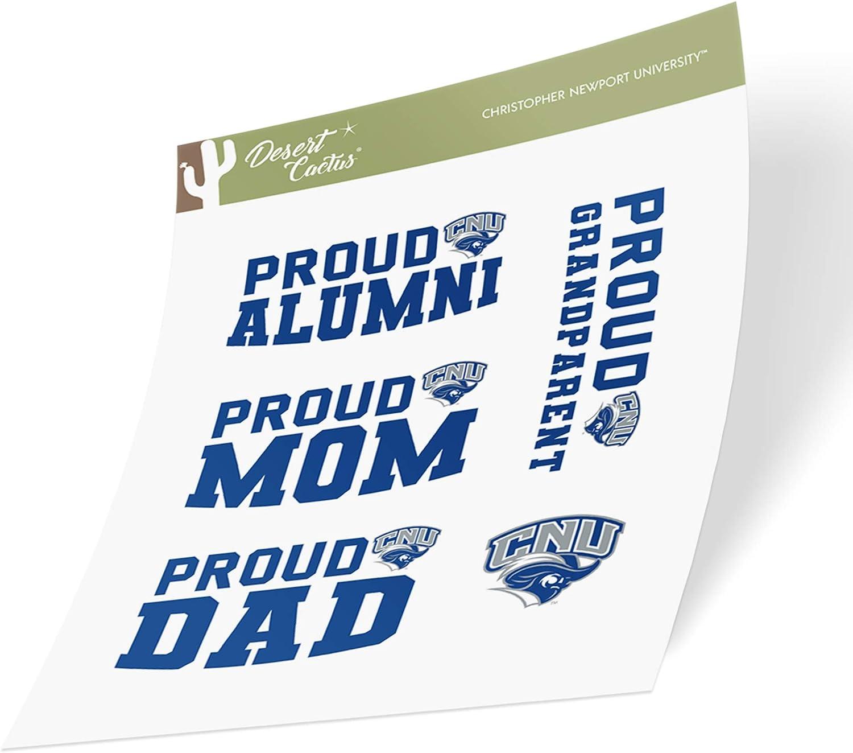 Christopher Newport University CNU Captains NCAA Sticker Vinyl Decal Laptop Water Bottle Car Scrapbook Family Full Sheet