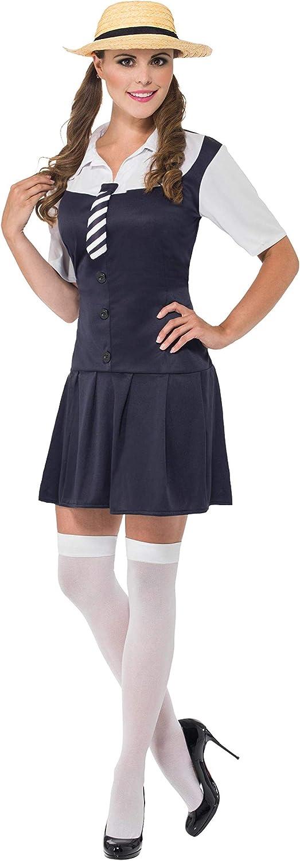 SmiffyS 31105S Disfraz De Colegiala, Vestido, Camisa Acoplada ...