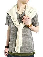 (モノマート) MONO-MART Vネック カットソー フライス ストレッチ Tシャツ 色 長袖 デザイン メンズ