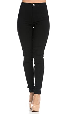 a43c7dd8fa2a SOHO GLAM Super High Waisted Stretchy Skinny Jeans in 10 Colors (S ...