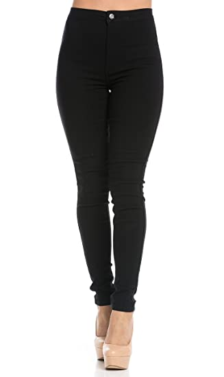 SOHO GLAM Super High Waisted Stretchy Skinny Jeans in 10 Colors (S ... 3dd96d81c7