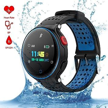 Qimaoo Reloj Inteligente Hombre IP68 Impermeable Reloj Deportes Inteligentes: Amazon.es: Electrónica