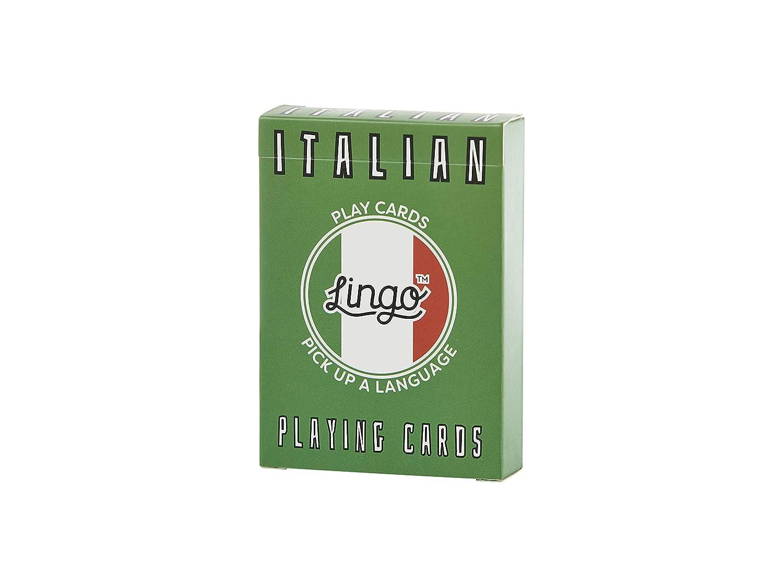 Amazon Italian Lingo Playing Cards Language Learning Game