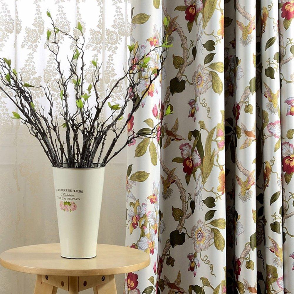 2er-Set Romantische Gardinen Blickdicht Vintage Creme Vorhänge ...