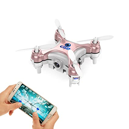 GoolRC Smallest FPV Drone with Camera Live Video iOS/Android APP Phone WiFi  Remote Control Mini Quadcopter Spy Drone Pocket Drone for Apple iPhone