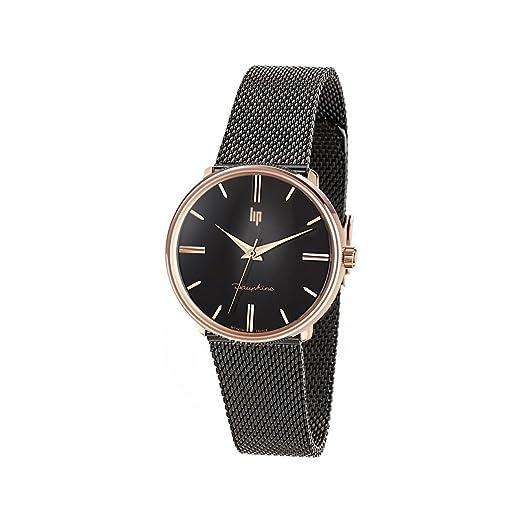 Lip Homme Uhr Analogique Quartz mit Métal Armband 671318: Amazon.es: Relojes