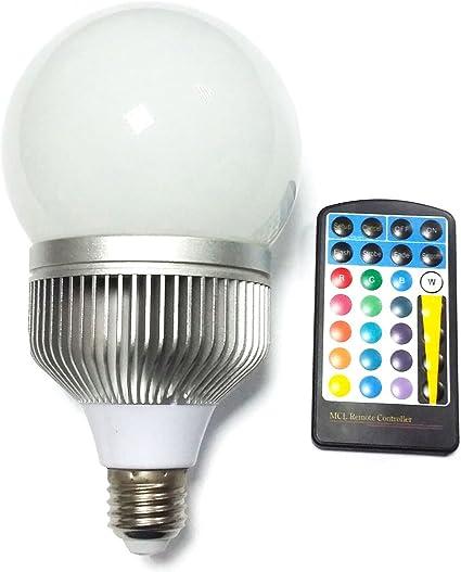 Bulbright Rgbw 10w G100 Led Color Changing Light Bulb E26 Base 100 240v Wireless Remote Controll 16 Color Choice 10 Amazon Com