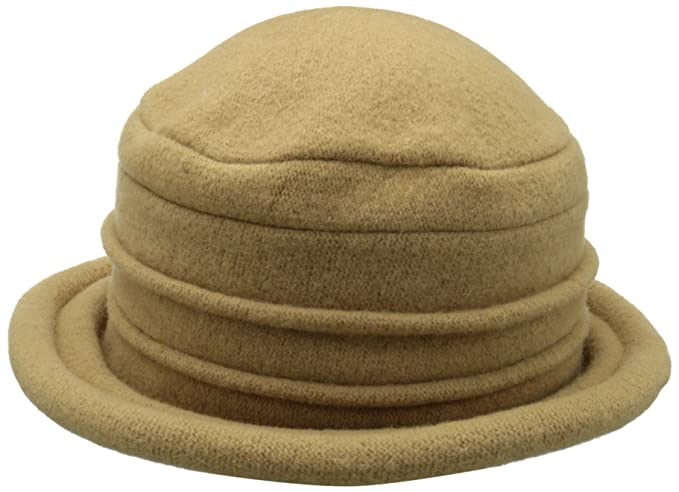 a2348896417 Scala Collezione Women s Boiled 100% Wool Cloche Hat (Camel) at ...