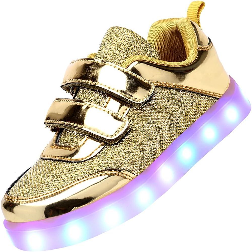 ODEMA niños Chicos y Chicas USB Carga LED luz Intermitente de ...