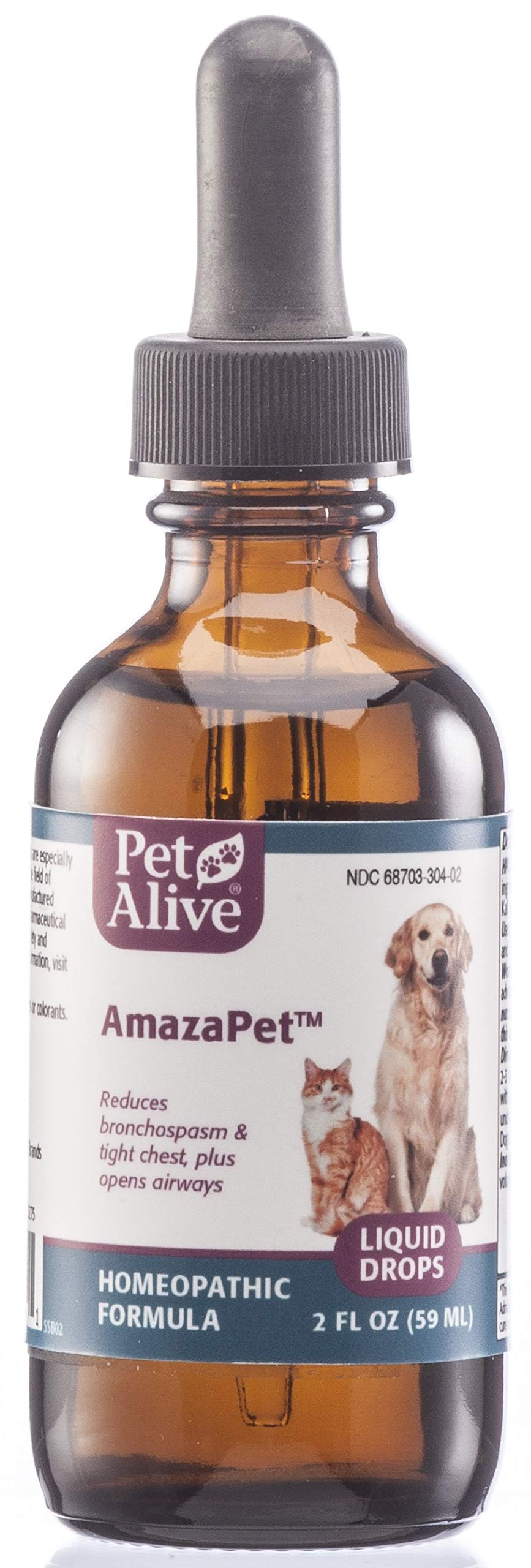 PetAlive AmazaPet Liquid - A Homeopathic Remedy for Easier Breathing, Improved Respiratory Function and Healthy Lungs by PetAlive