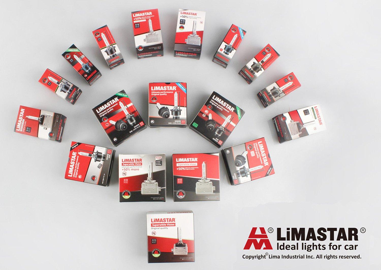 Pair LIMASTAR 5000K D4S HID Headlight Bulb 35W Xenon Headlight Replacement Bulb