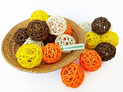 Amazon NAVA CHIANGMAI 40 Pcs Decorative Balls Rattan Balls Fascinating Rattan Decorative Balls