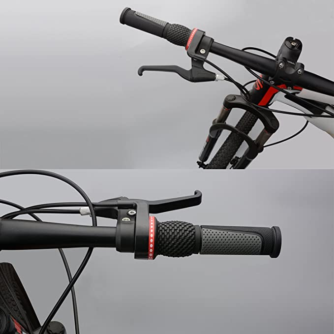 Cycle Handlebar Grips Universal New 2 X Black Grip Shift Twisted Grip Bar Bike