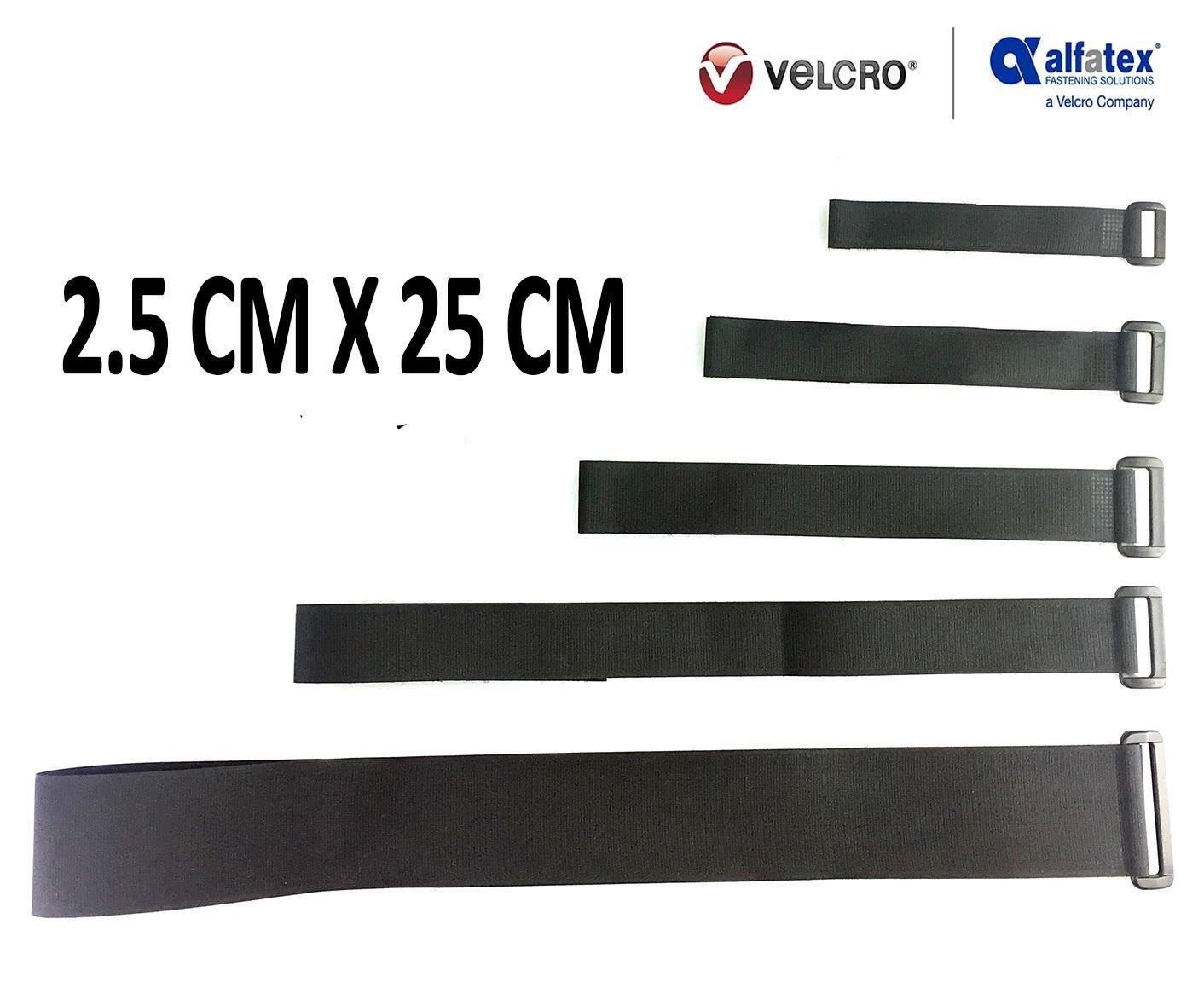 universell einsetzbar mit Klett-Verschluss und Schnalle VELCRO/® Brand wiederverwendbare Klett-Kabelbinder wiederverschlie/ßbar schwarz- 5cmx100cm 2 St/ück