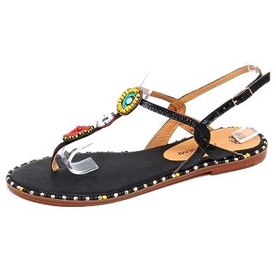 online store 19570 49515 MALIPARMI F1866 Infradito Donna Black Scarpe Sandalo Shoe ...