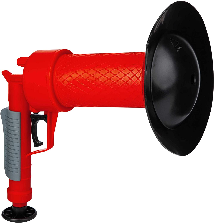 ONVAYA® Limpiador de tuberías de aire comprimido   Pistola mecánica de limpieza de tuberías con aire comprimido   Sin químicos   Para el inodoro, la ducha y el lavabo   rojo