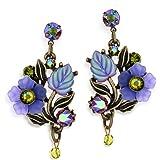 Purple Haze Flower Earrings From La Contessa - E9220