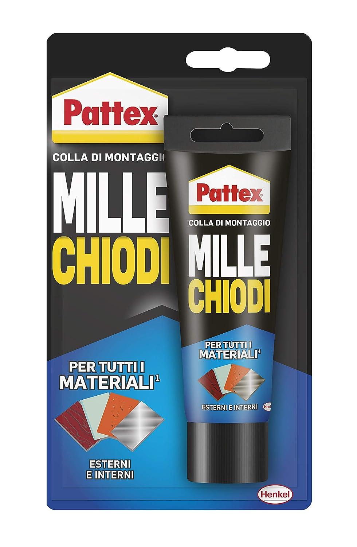 LEGNO,PIASTRELLE,PLASTICA ECC. PATTEX MILLE CHIODI SUPER COLLA BIANCO 100g