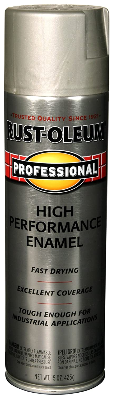 Rust-Oleum 7519838 Professional High Performance Enamel Spray Paint, 14 oz, Stainless Steel