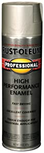 Rust-Oleum 7519838 Professional High Performance Enamel Spray Paint, 14 oz, Stainless Steel