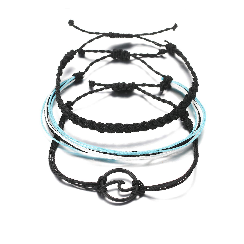 VSCO String Wave Bracelet for Women Bohemian Handmade Braided Beach Bracelet for Girls