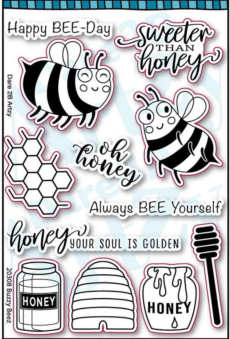 Dare 2B Artzy Buzzy Beez Clear Cling Rubber Stamp Set 20308