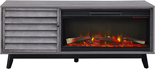 Amazon Com Ameriwood Home Vaughn Electric Fireplace Tv Stand