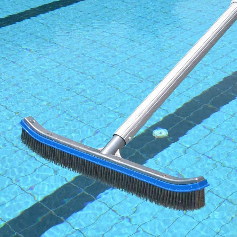 Tiles and Floors Effortlessly 18 Aluminium Swimming Pool Cleaning Brush HelloCreate Swimming Pool Brush Heavy Duty Brushes Cleans Walls