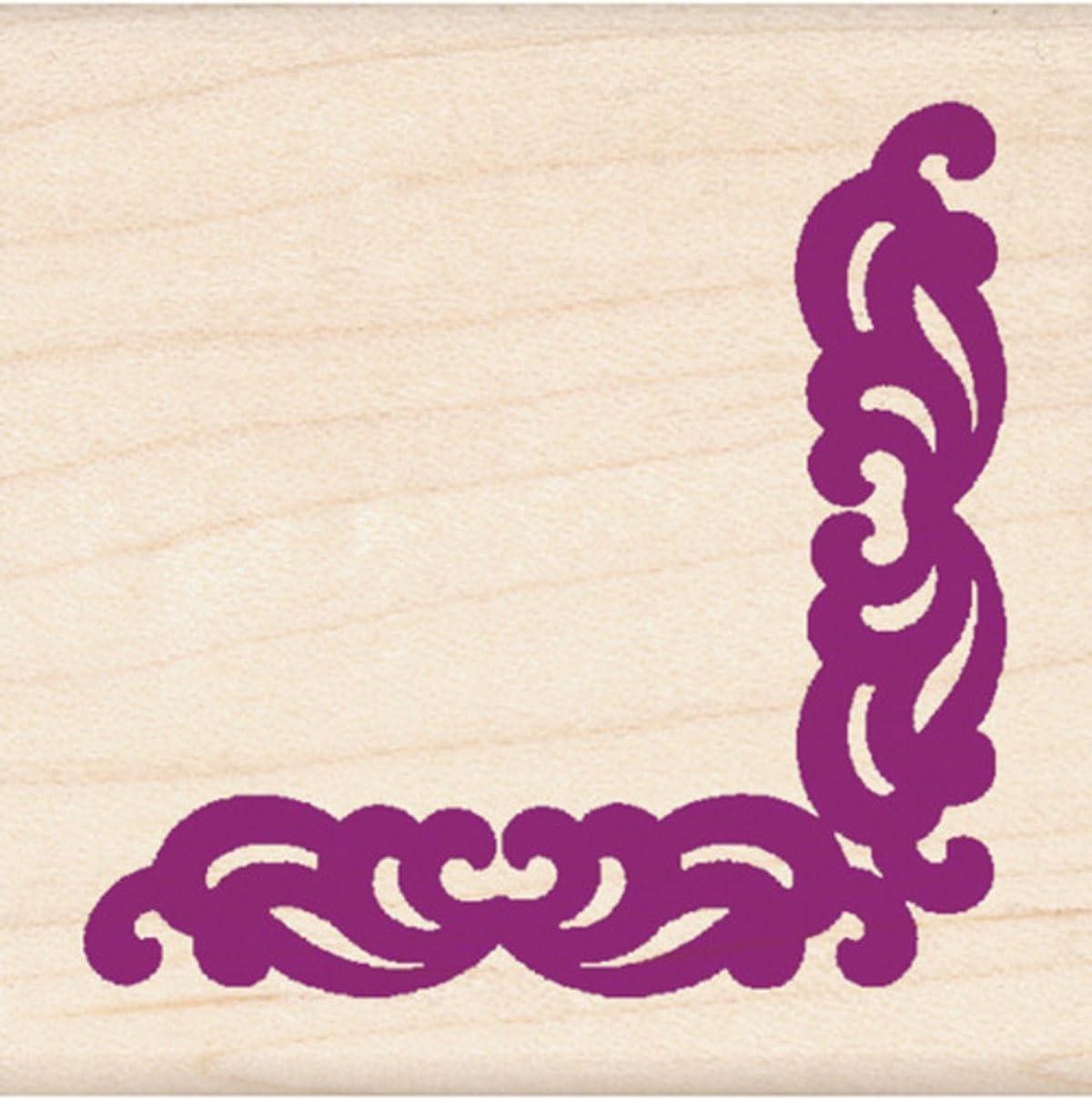 Ornate Border Inkadinkado Wood Stamp