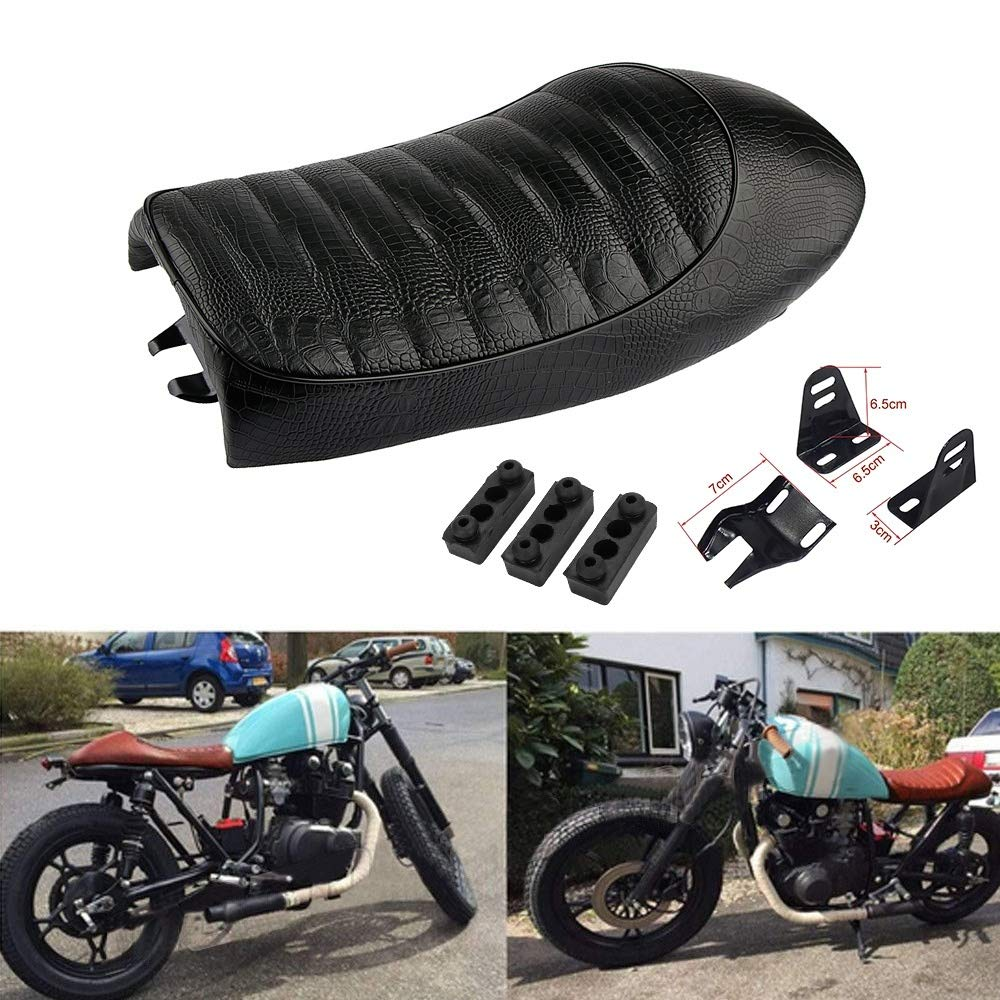 3 Motorcycle Vintage Cafe Racer Saddle Seat For KZ400 KZ550 K750 Z650 W650 CB100 CB125 CB175 CB200 CB350 CB360 CB400 CB450 CB500 CB550 CB650 CB750 CG125 GN250 CL100 CL125S CL175 CL200 CL350