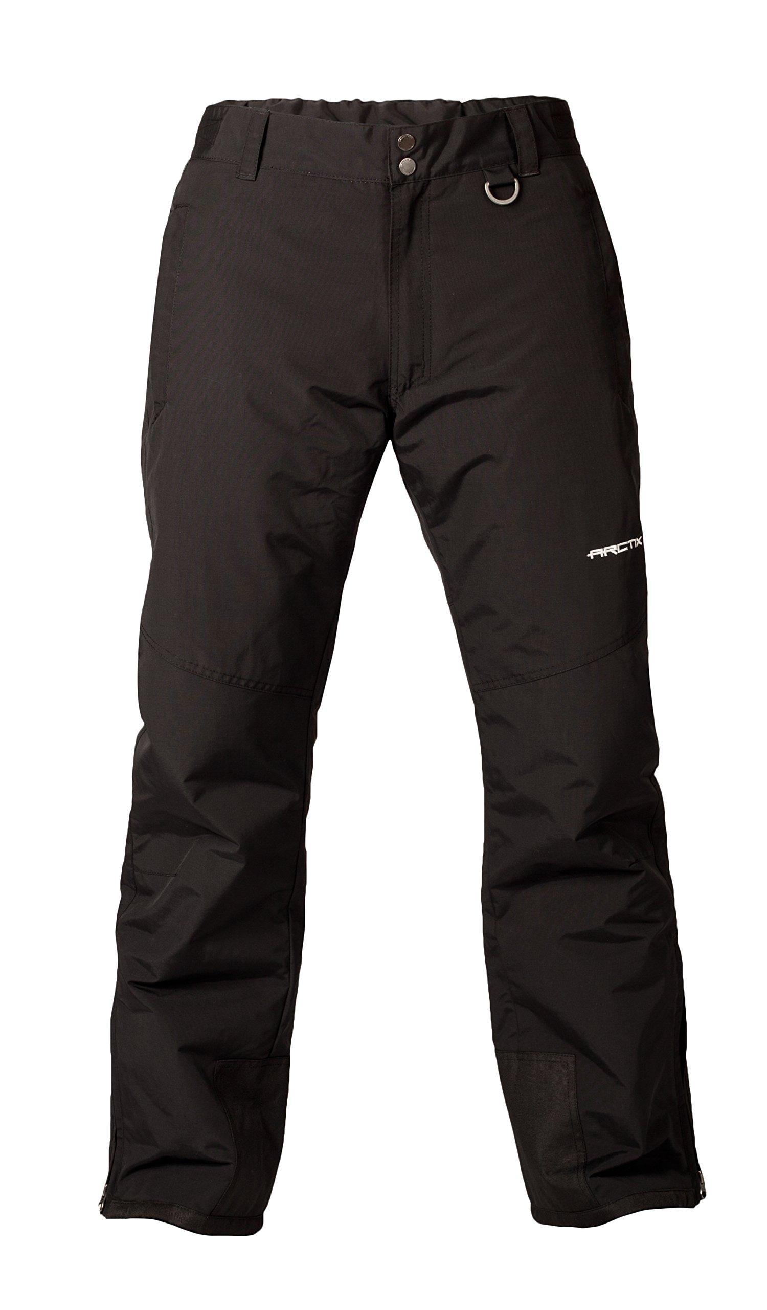 Arctix Men's Mountain Insulated Ski Pants, Black, Medium (32-34W 32L) by Arctix