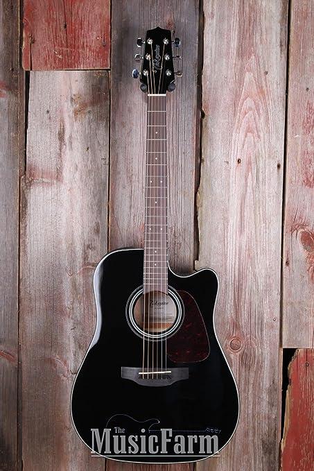 TAKAMINE gd15ce-blk Dreadnought Cutaway Guitarra Electroacústica guitarra, negro