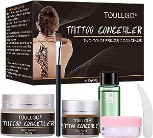 Tattoo Concealer, Scar concealer, Makeup Concealer, Skin Concealer, Professional Waterproof Concealer Set to Cover Tattoo/Scar/Acne/Birthmarks, 30g+30g