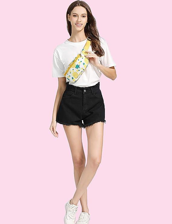 87eb1be7c44c WODODO Pineapple Pattern Print Fashion Cute Fanny Pack Women Rave Festival  Party Hiking Travel Hip Packs