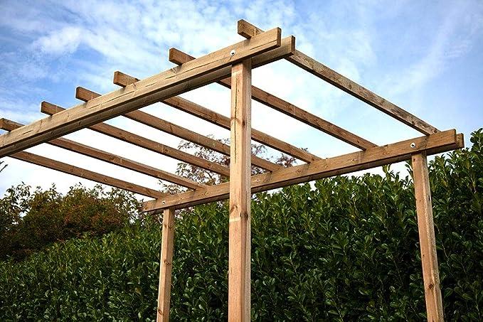 Cenador Pergola 200 x 300 madera pino maciza impregnato