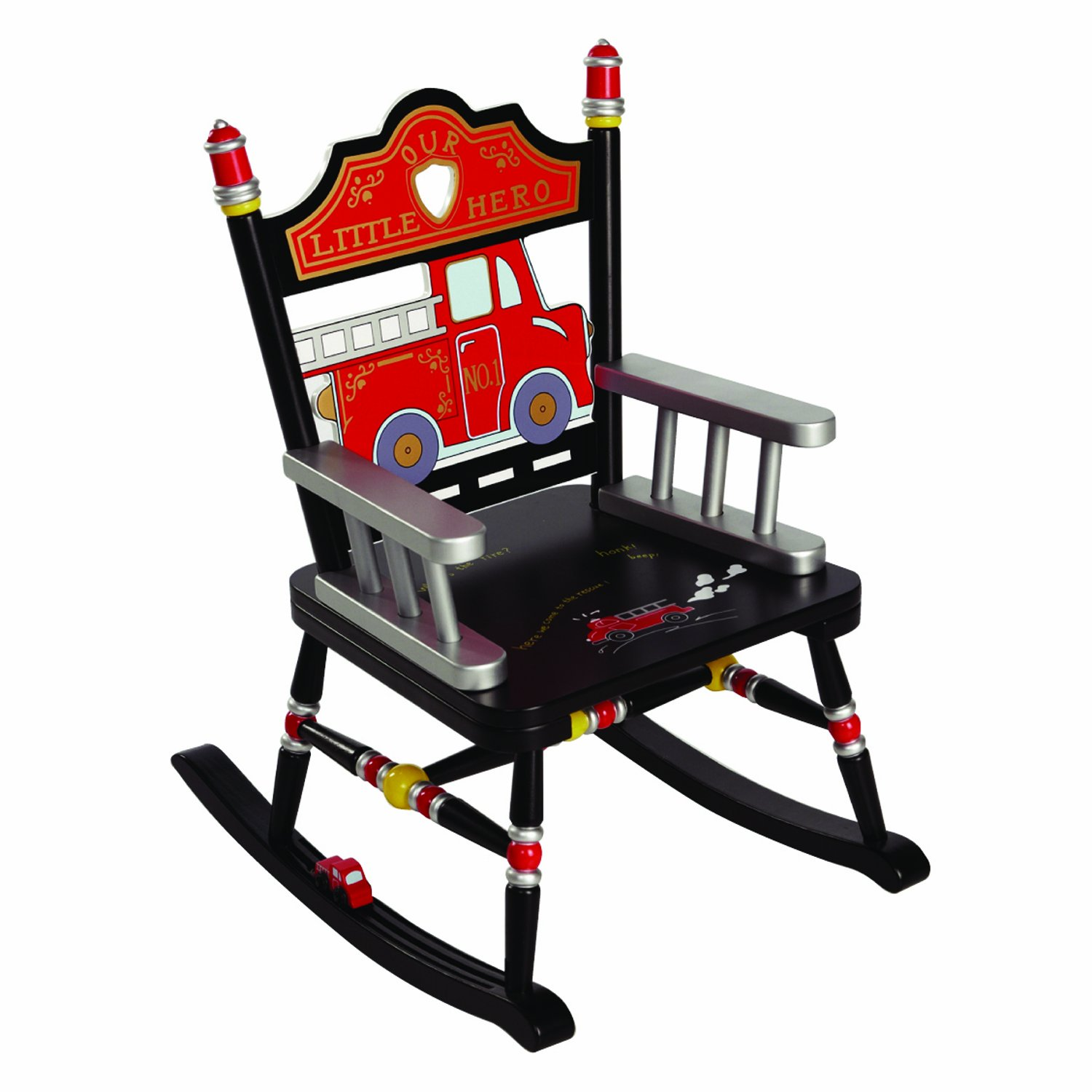 Wildkin RAB00083, Fire Engine, Rocking Chair