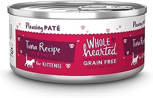 WholeHearted Grain-Free Tuna Recipe Pate Wet Kitten Food, 5.5 oz, Case of 12, 12 X 5.5 OZ