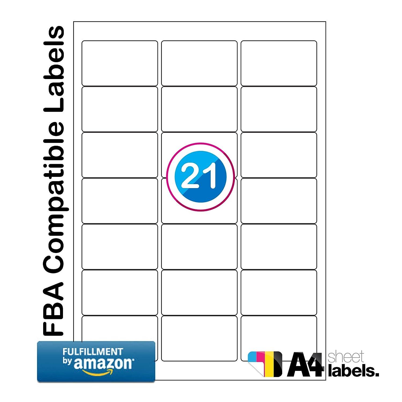 50 hojas de calidad premium A4 FBA etiquetas de código de barras ...