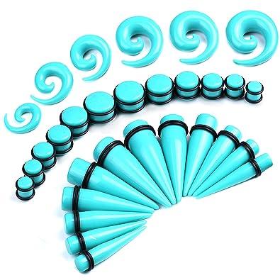BodyJ4You - Juego de 36 dilatadores rectos y espirales, para calibres grandes (00G-